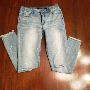 KAARI Blue Skinny Jeans